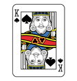 Stylized King of Spades no card vector image vector image