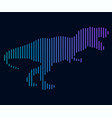 the linear of a dinosaur logo vector image vector image