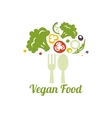 Vegetarian food symbol Creative logo design