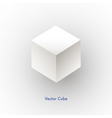 white cube icon vector image