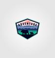 wilderness adventure vintage logo design vector image vector image