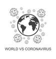 world versus corona virus vector image