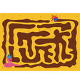 Worm Maze Cartoon vector image vector image