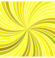 yellow abstract psychedelic striped spiral vortex vector image vector image