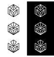 m letter logo design business logo vector image