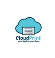Cloud Print Logo vector image