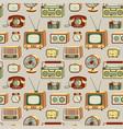 retro electronics pattern vector image