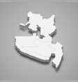 3d isometric map soccsksargen is a region of vector image vector image