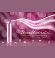 3d realistic essence spray ad banner vector image