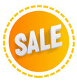 3d sale web icon element clipart vector image