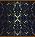 abstract art luxury dark seamless blue and golden vector image vector image