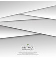 abstract of 3d white and grey paper cut vector image vector image