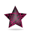 abstract star shape logo vector image