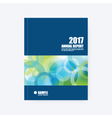 Annual report cover vector image vector image