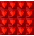 Background with crystal hearts vector image vector image