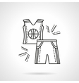 Basketball uniform flat line icon vector image vector image