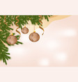 beautiful banner greeting card with christmas vector image vector image