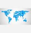 blue geometric abstract world map vector image vector image