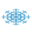blue snowflake icon isometric style vector image vector image