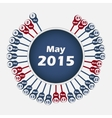calendar 2015 May template vector image