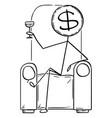cartoon successful rich man or businessman vector image vector image