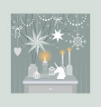 christmas decorating vector image