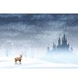 Christmas Landscape Winter Castle vector image vector image