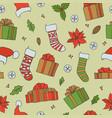 christmas seamless patterns holiday vector image vector image