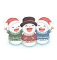 christmas snow man vector image vector image