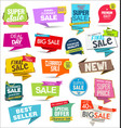 collection colorful modern badges and labels 9 vector image vector image
