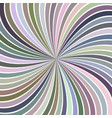 colorful abstract psychedelic spiral ray burst vector image vector image