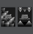 cover design poster with geometric layered vector image