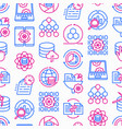 data processing seamless pattern vector image vector image