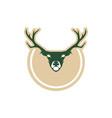 deer logo design vector image