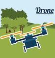 Drone design vector image