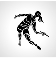 Female player is throwing flying disc vector image vector image