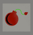 flat shading style icon dangerous bomb vector image vector image