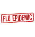 flu epidemic sign or stamp vector image vector image