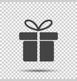 gift box icon flat on white background vector image vector image