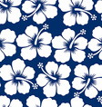 Graphic white tropical hibiscus flowers seamless vector image vector image