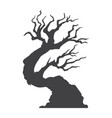 halloween tree glyph icon halloween and scary vector image vector image