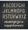 Hand drawn comic retro font white Alphabet vector image
