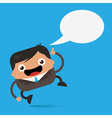 Happy Business Man with Speech Bubble vector image vector image