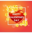 Happy valentines day colorful vetor template vector image vector image