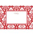 holiday leaf pattern and frame vector image vector image