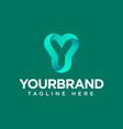 letter y gradient logo design template elements vector image