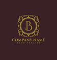 luxury logo b latter logo vector image