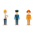 men of different professions set engineer vector image vector image