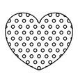 monochrome silhouette of heart shape decorative vector image vector image