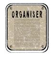 organiser vector image